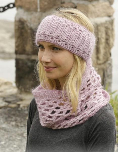Autumn demask knitted set