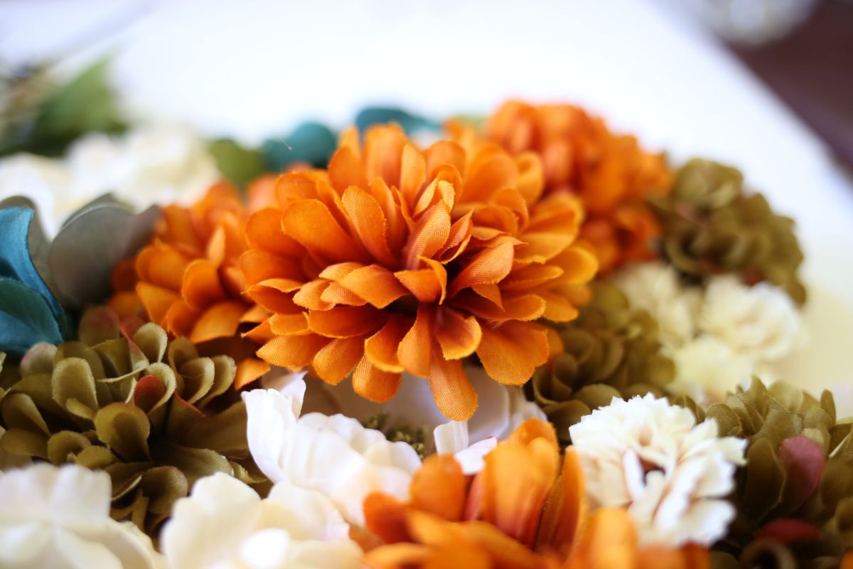 Autumn floral hanging decor