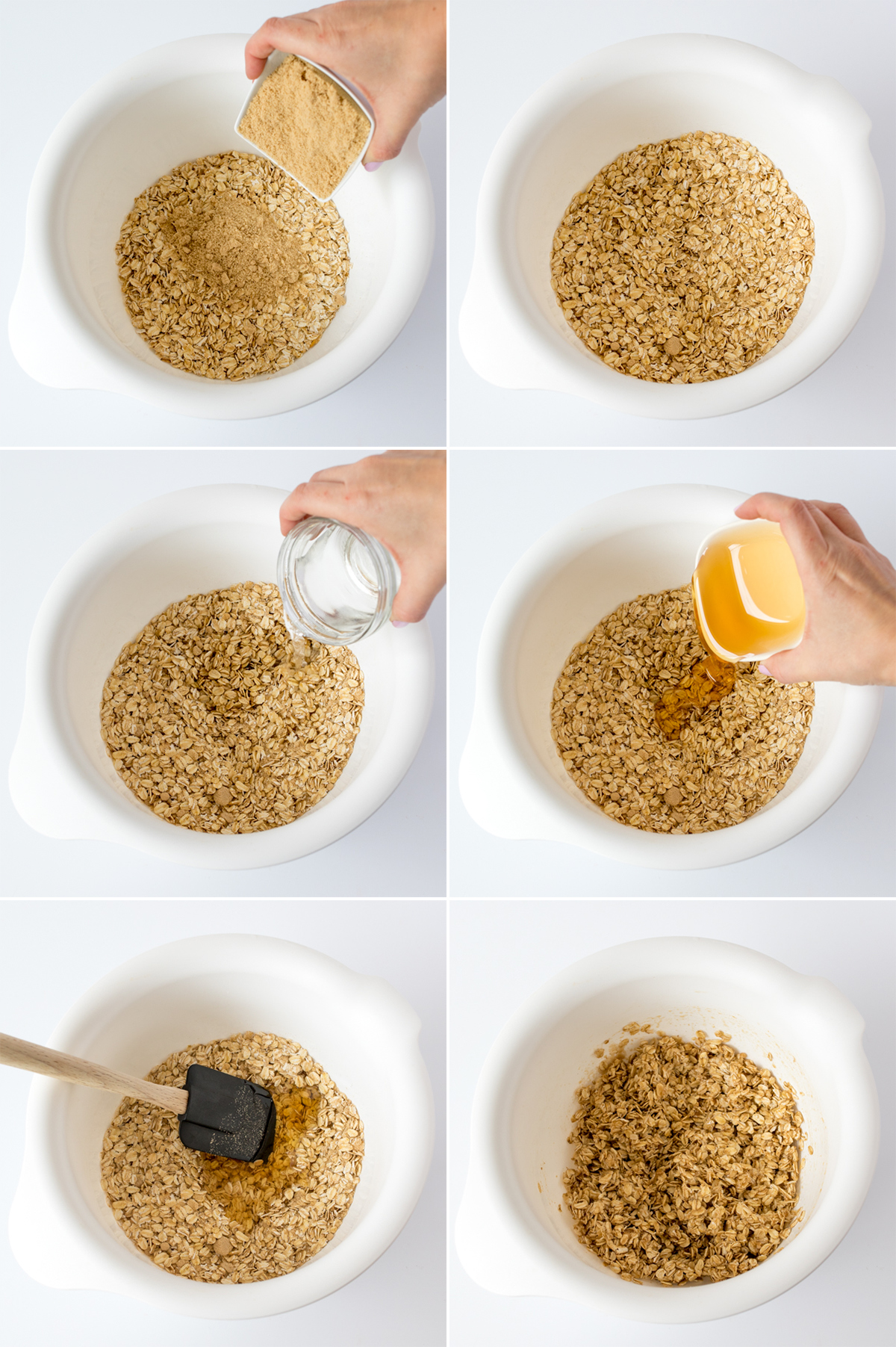 Berry nut granola step1 collage