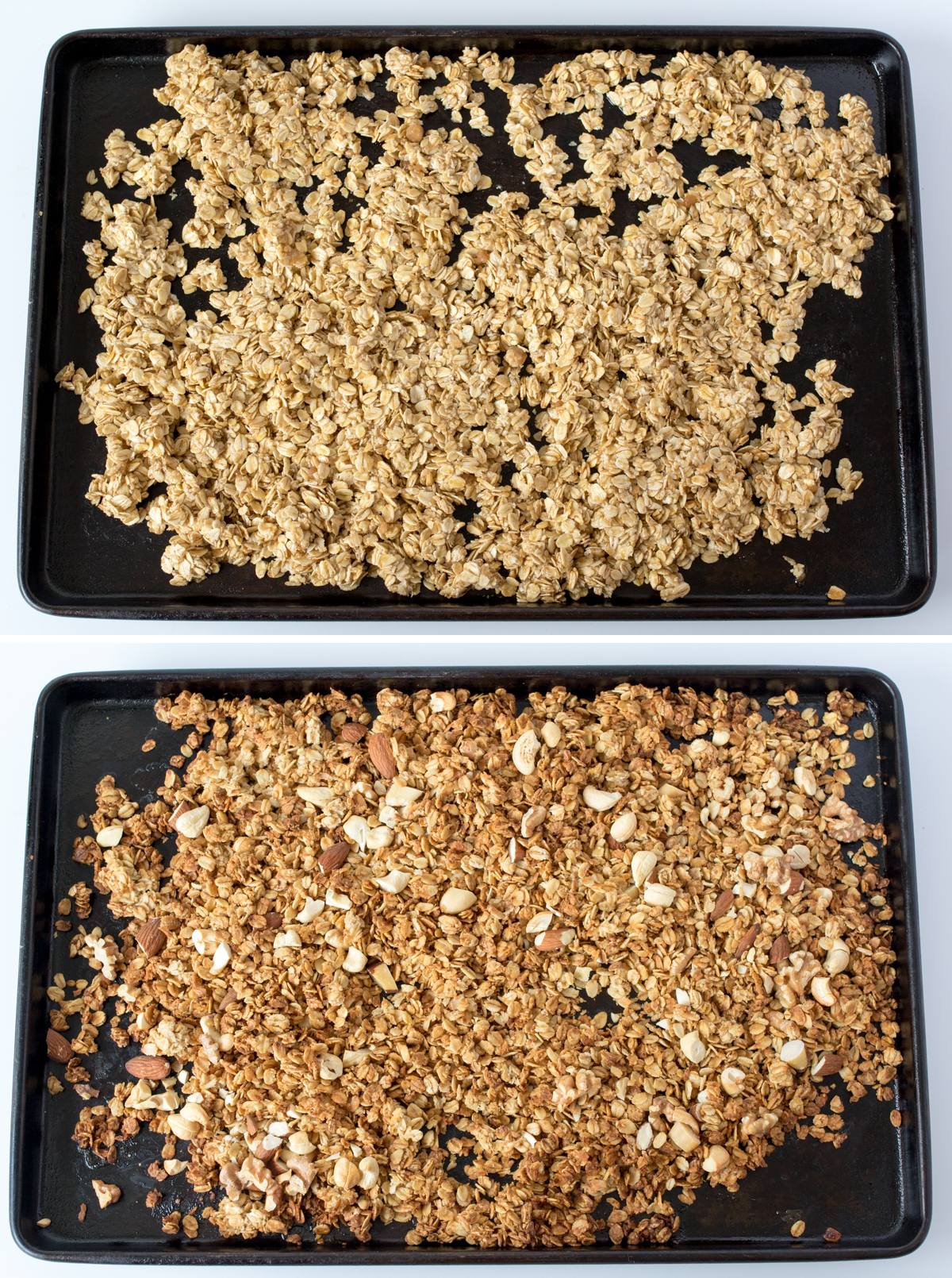 Berry nut granola step2 collage