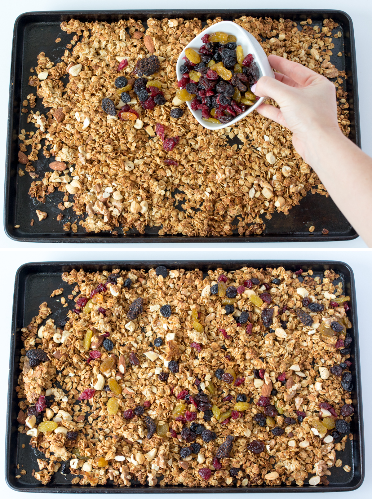 Berry nut granola step3 collage