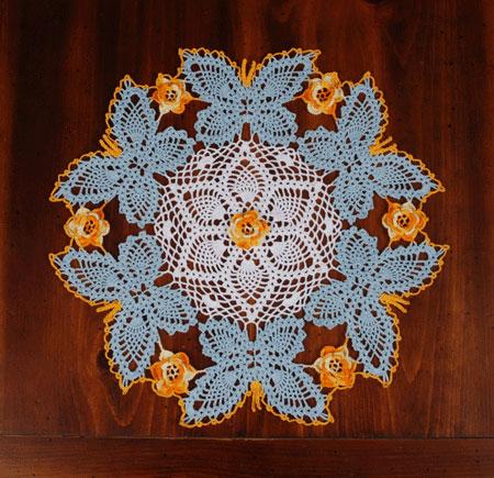 Circle of Friends Doily Dragonfly Doily Crochet Pattern