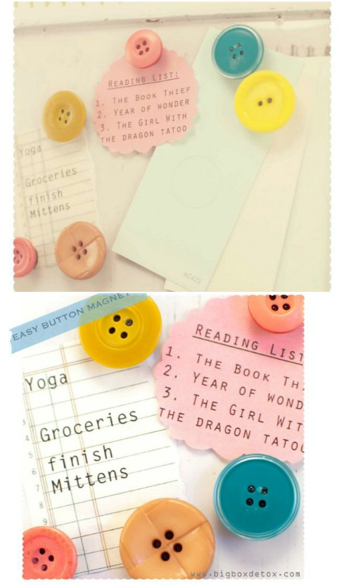 Button fridge magnets