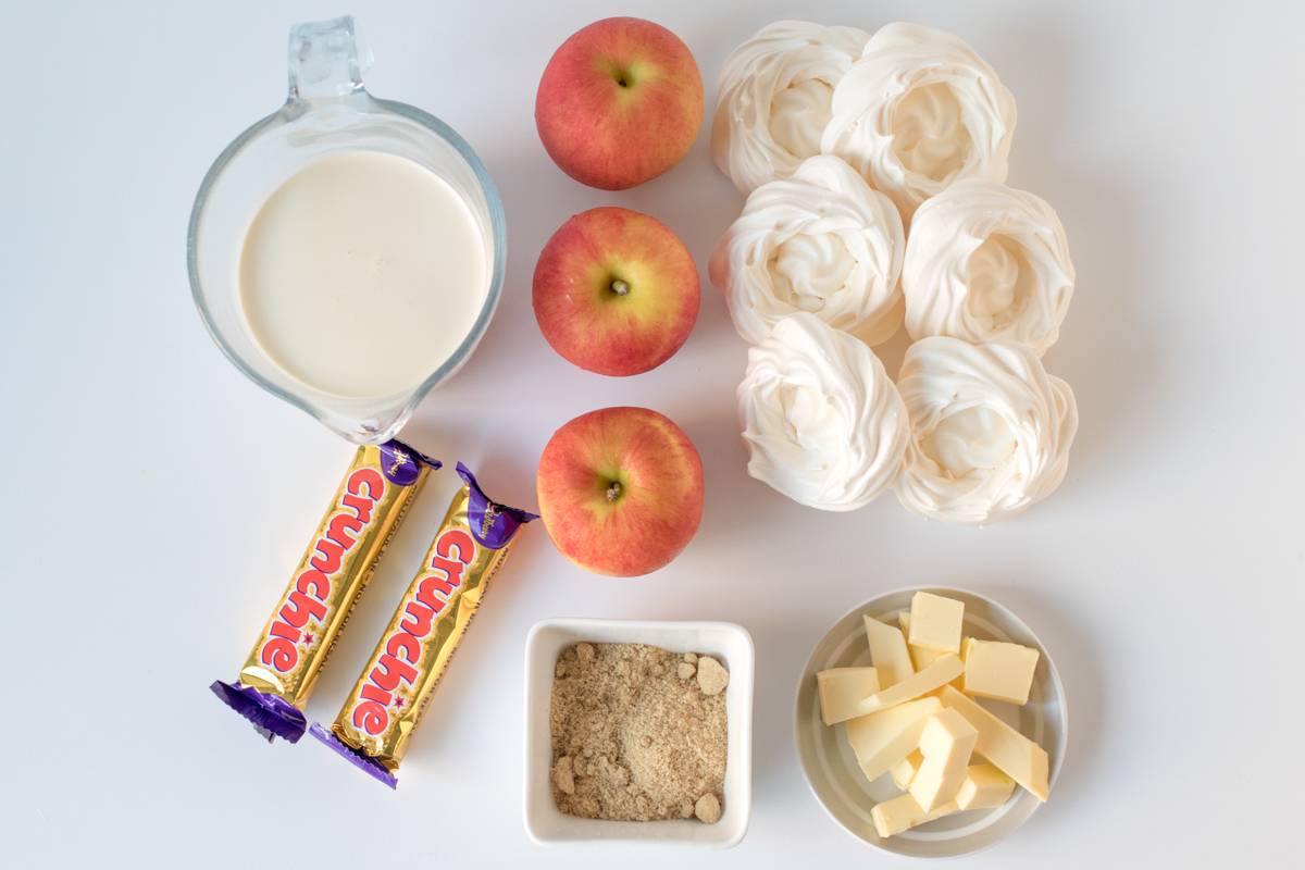 Caramel apple and honeycomb eton mess ingredients