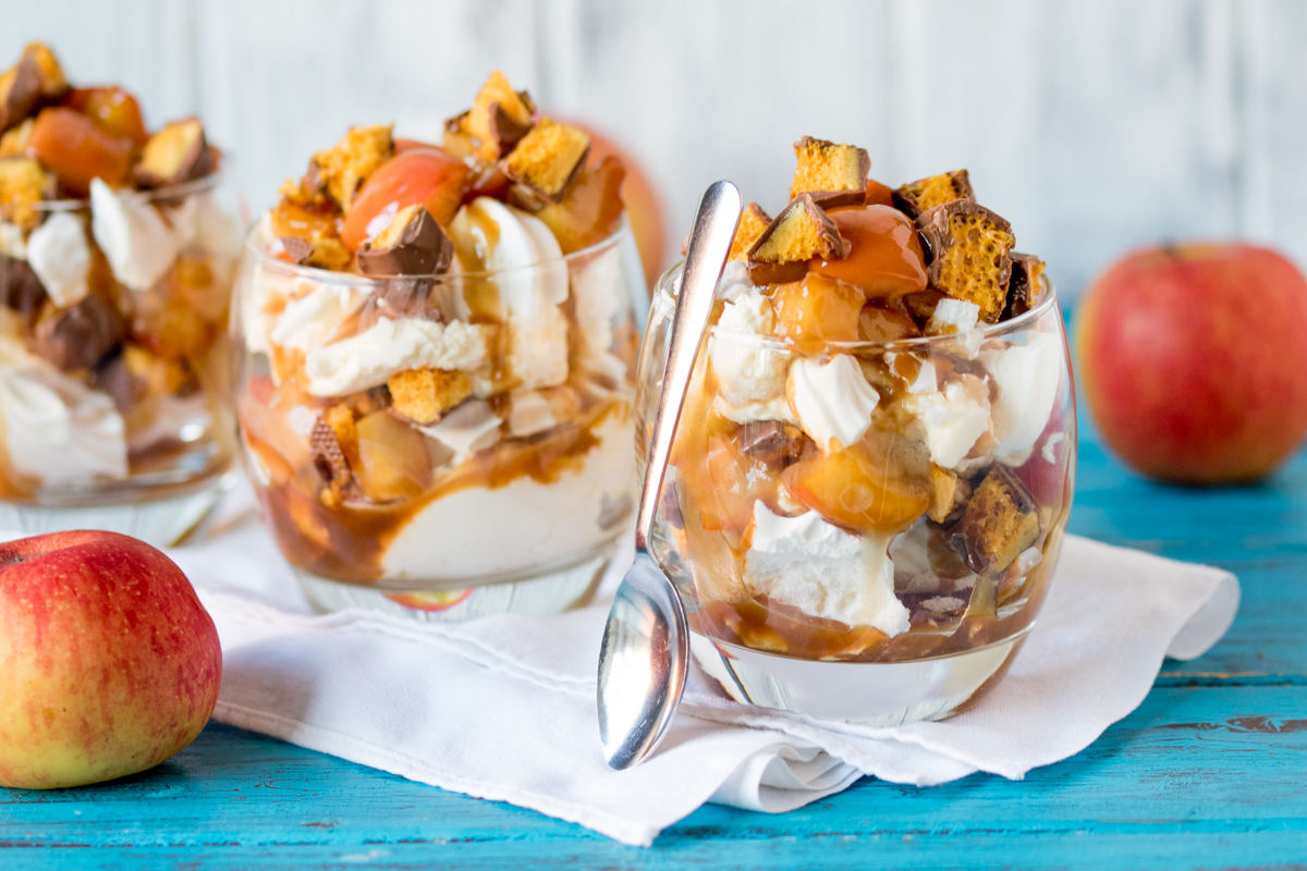 Caramel Apple and Honeycomb Eton Mess – THE dessert for Fall!
