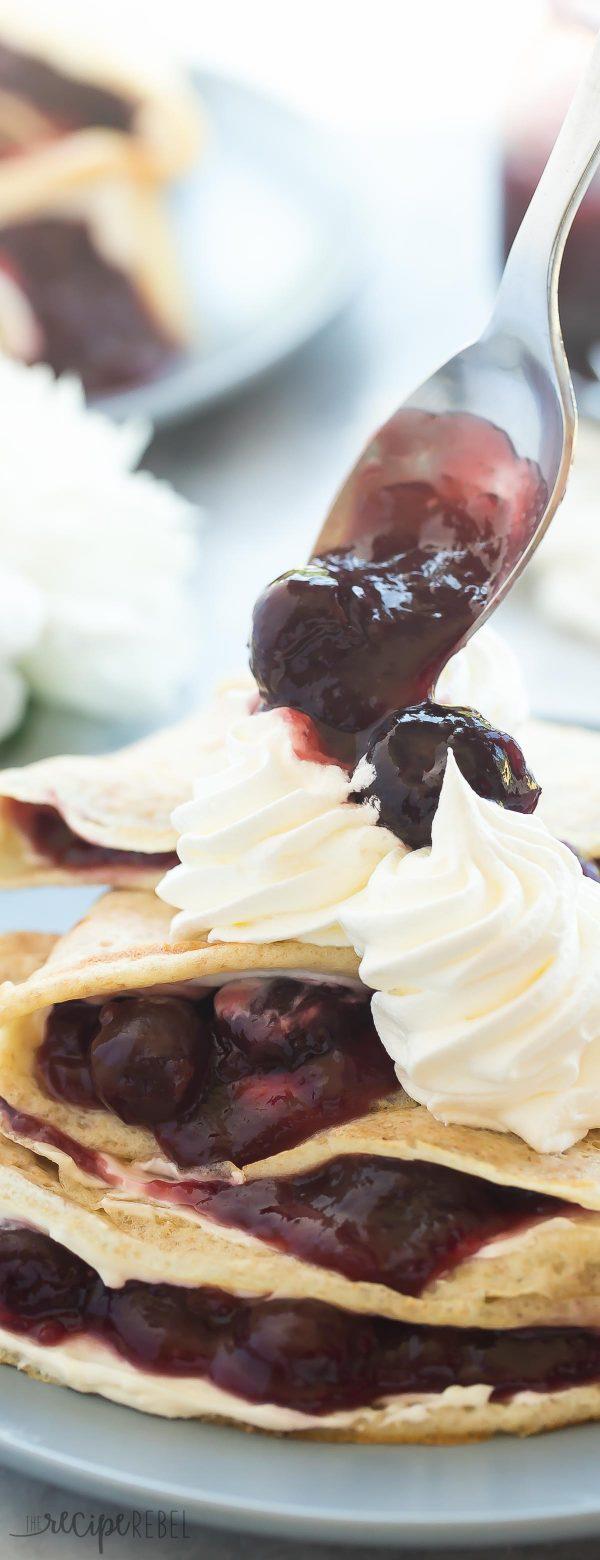 Cherry cheesecake crepes www thereciperebel com 2 of 8 600x1560