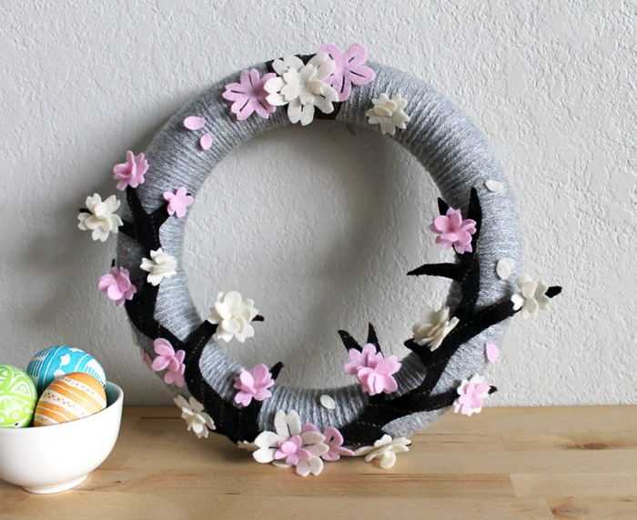 Cherry blossom door wreath