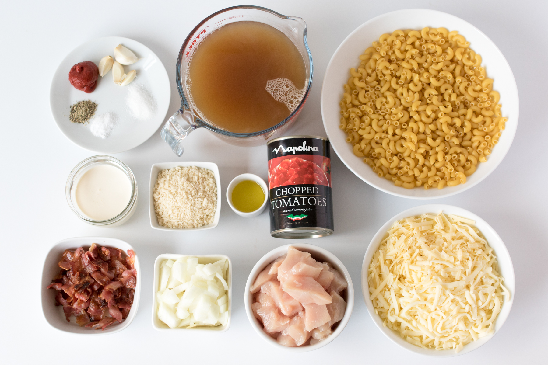 Chicken and bacon mac n cheese ingredients