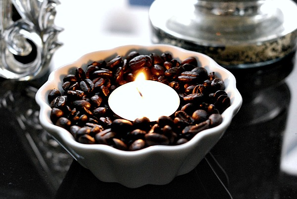 Coffee bean votives