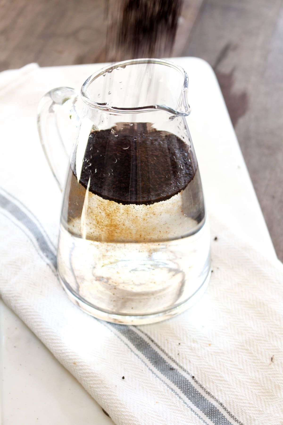 Cold brew coffee coffee grounds