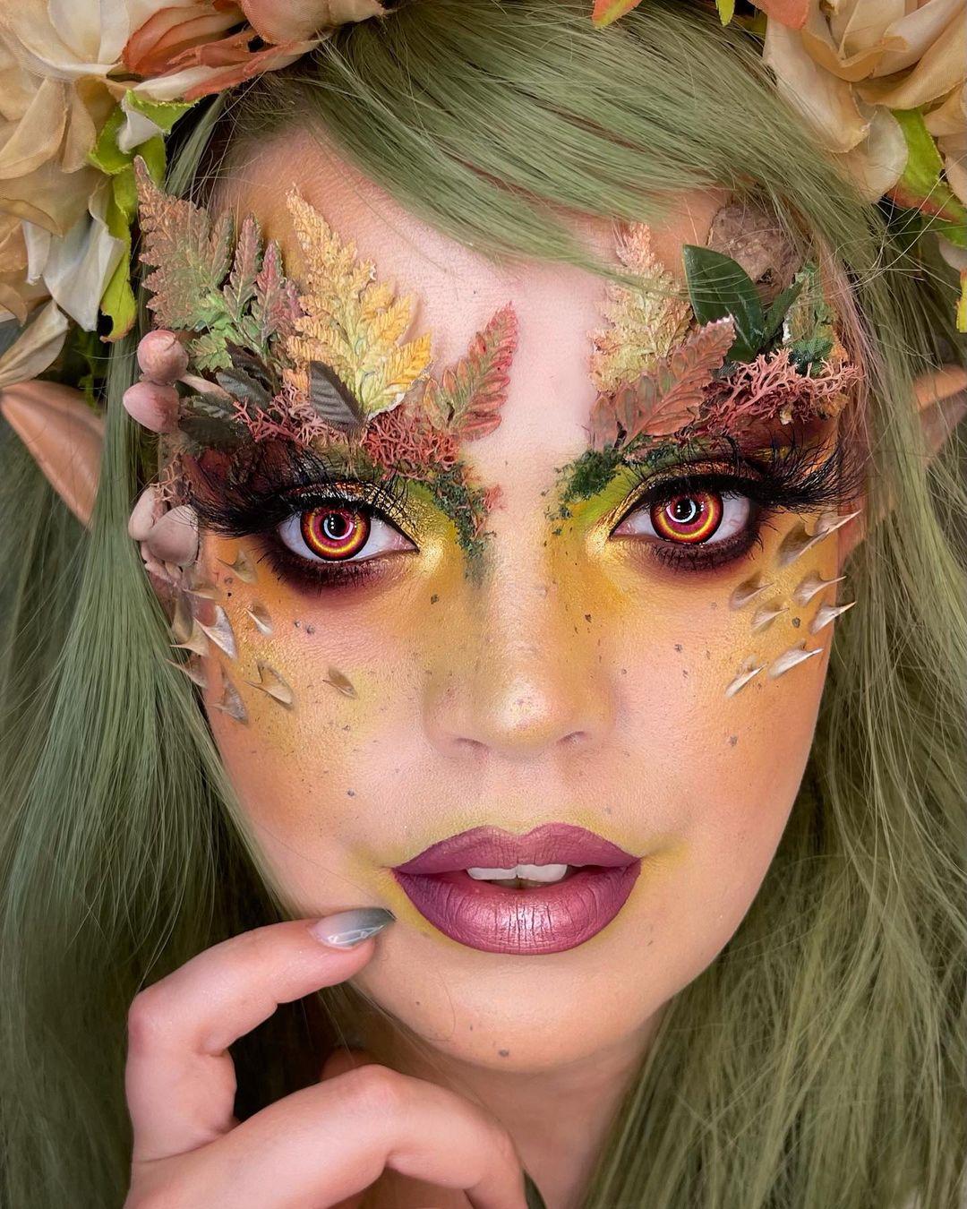 Cool halloween makeup forest spirit