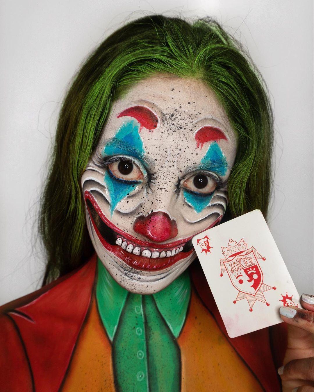 Crazy halloween makeup the joker