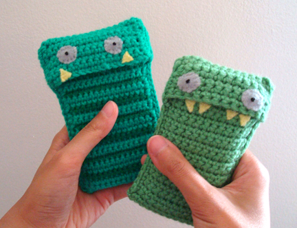 Crochet monster phone case