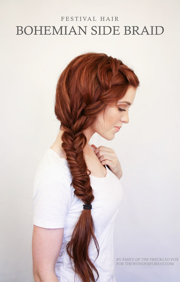Diy boho side braid