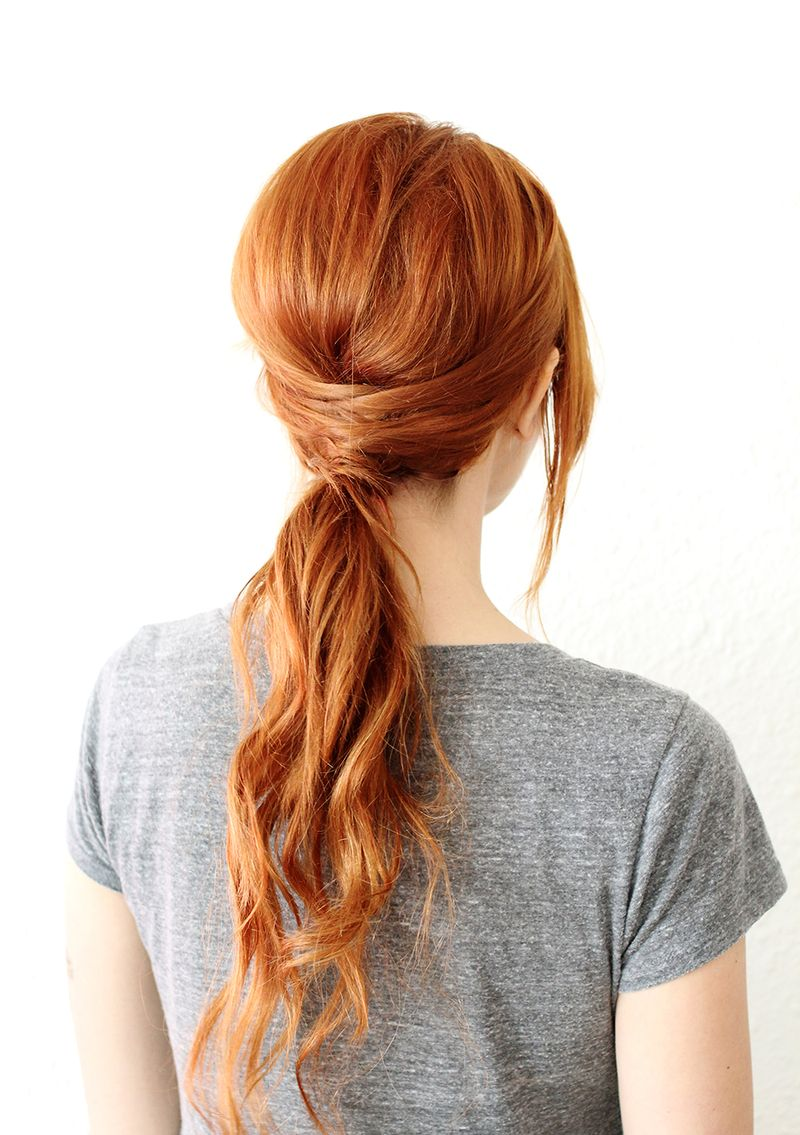 Diy criss cross ponytail