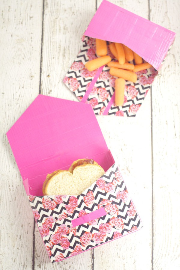 Diy duck tape lunch bags