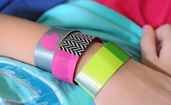 Diy duct tape bracelets