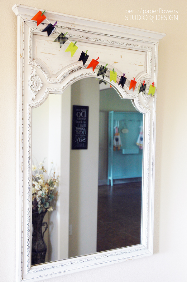 Diy duct tape garland decor