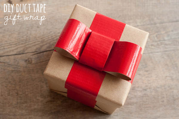 Diy duct tape gift wrap