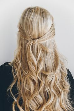 Cute and Simple Hairstyle - the Knotted Half-Updo