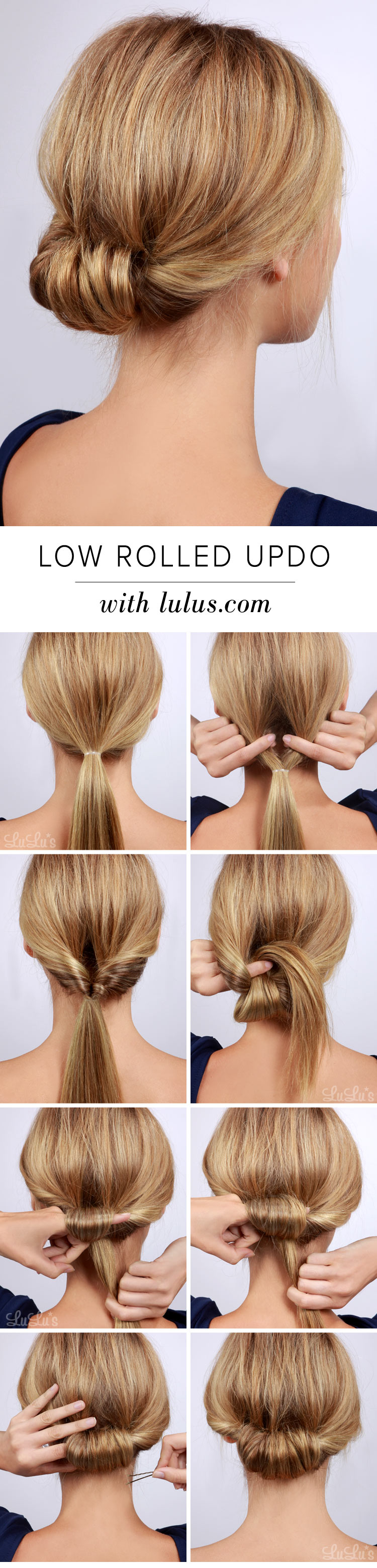 Diy low rolled updo