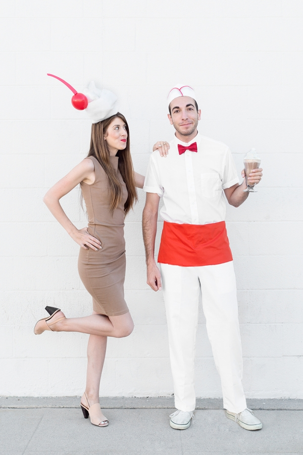 Diy milkshake and waiter costumes