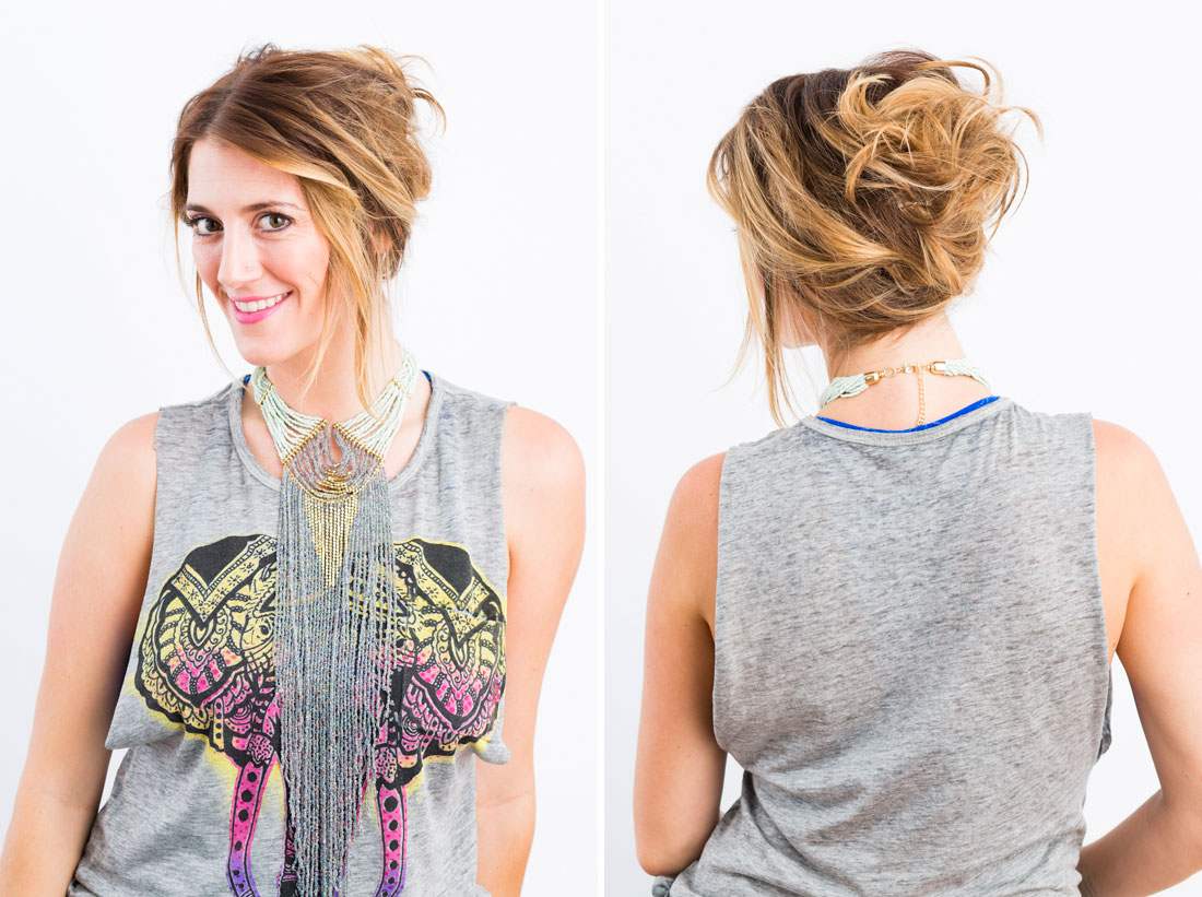 Diy touseled updo in 5 minutes