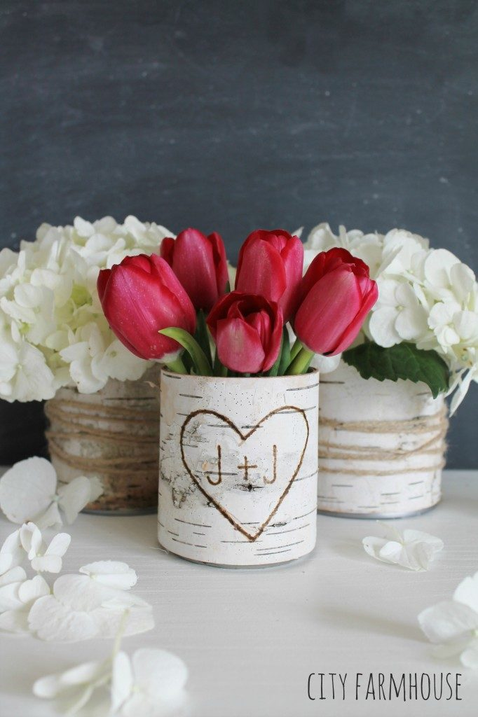 Diy birch vases