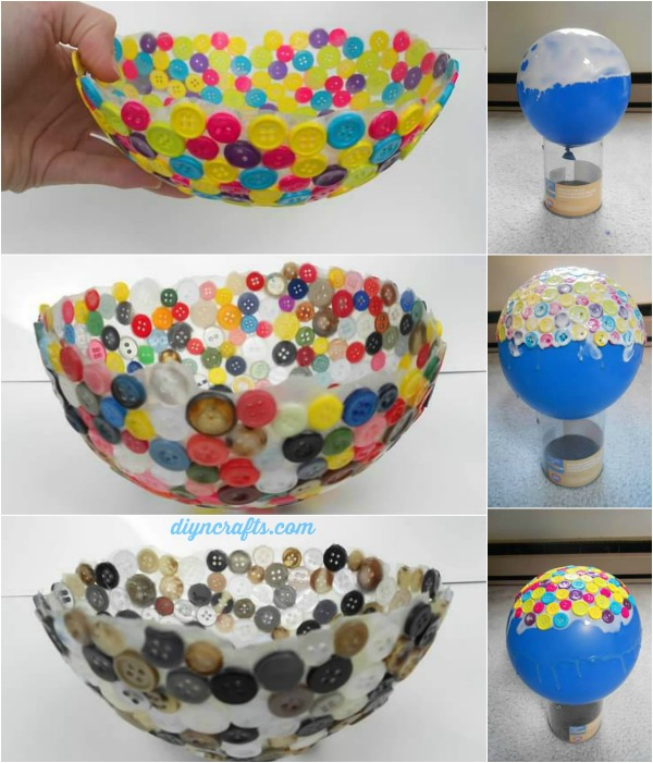 Diy button bowl