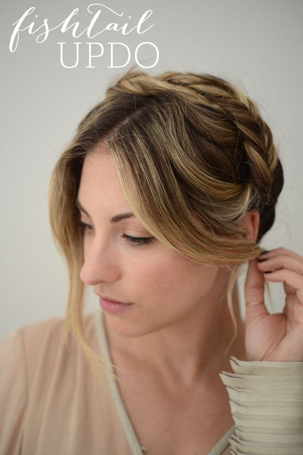 Diy fishtail updo hairstyle