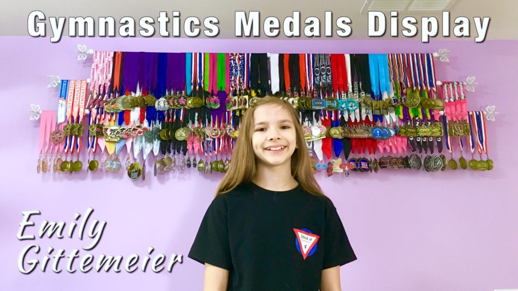 Diy gymnastics medal display