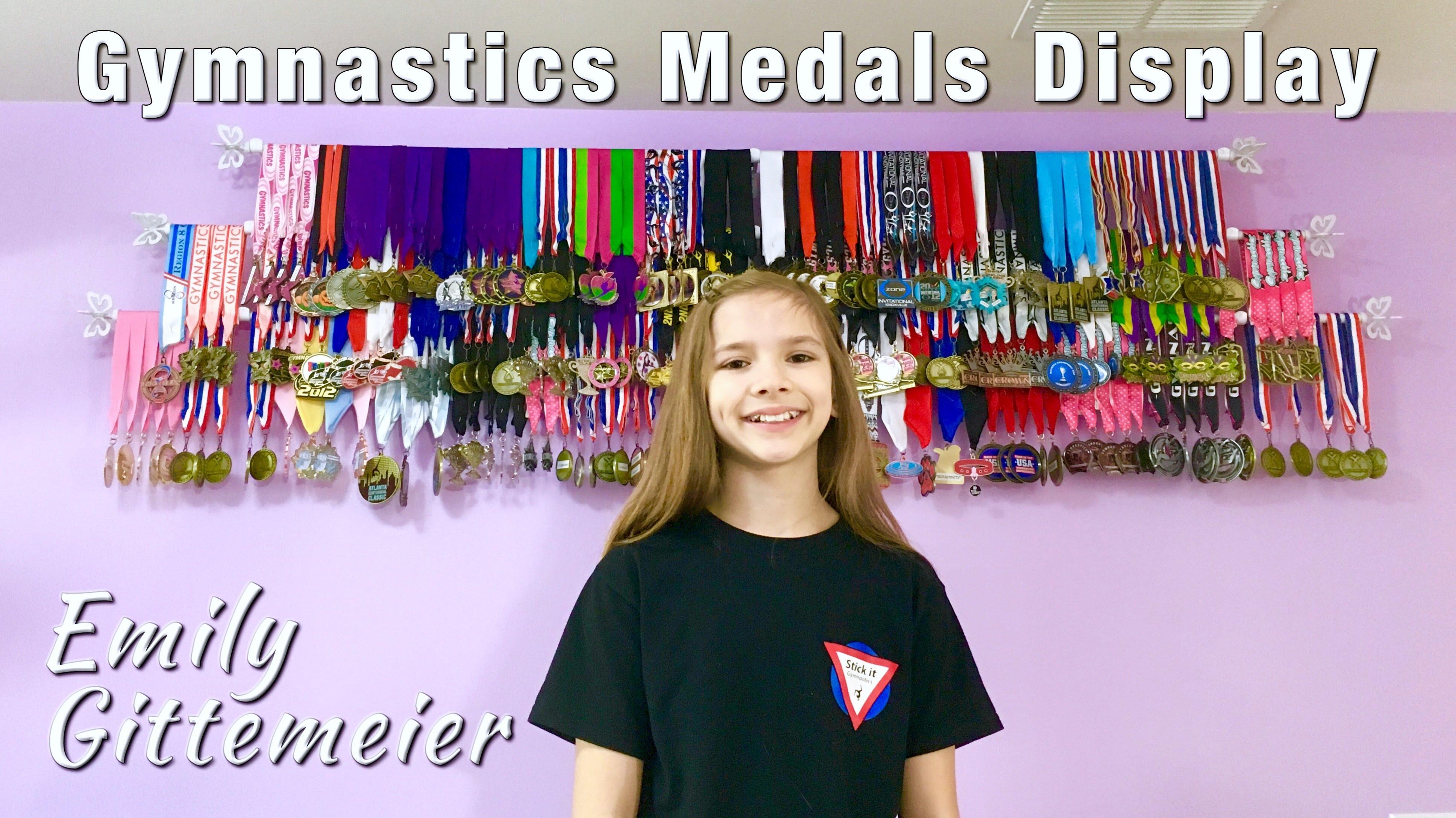 Diy gymnastics medal display