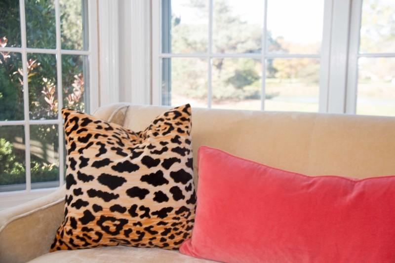 Diy leopard throw pillows