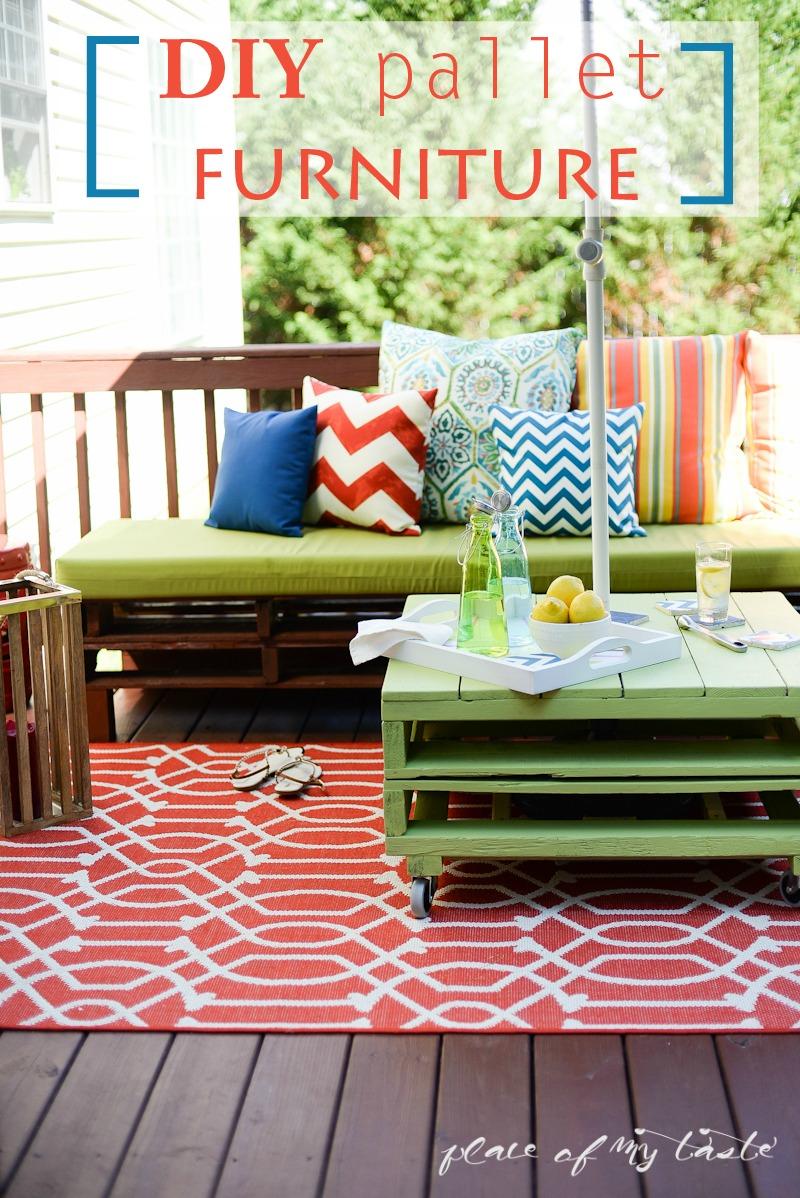 Diy pallet furniture patio makeover www placeofmytaste com