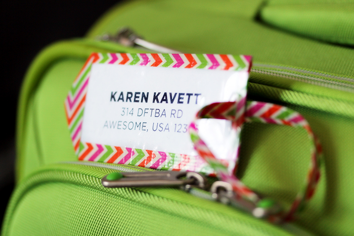 Diy duct tape luggage tag