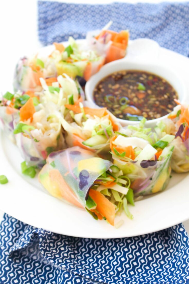 Delicious vegetable summer rolls
