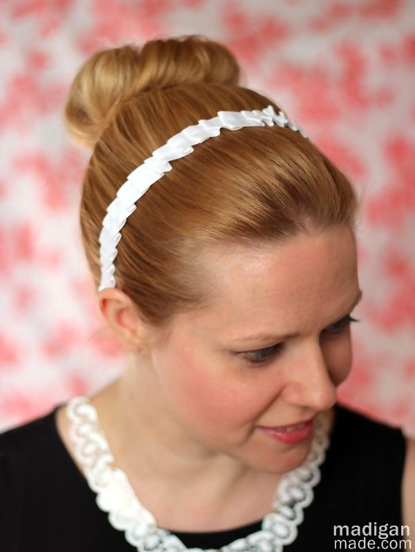 Downton abbey inspired ruffled headband