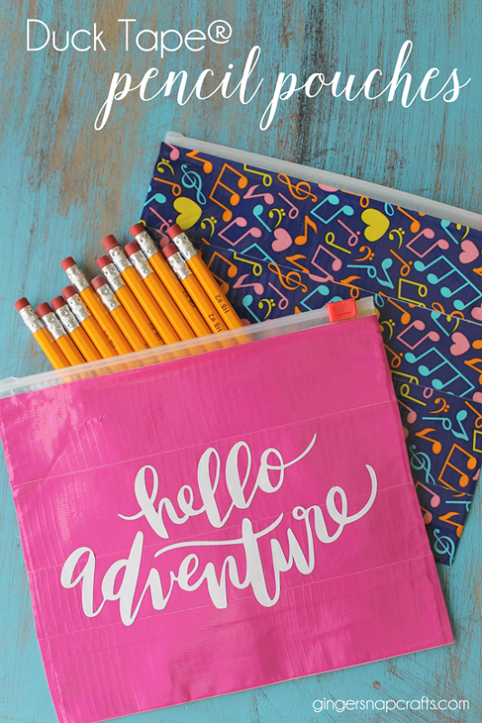 Duck tape® pencil pouches at gingersnapcrafts com #ducktape #backtoschool[2]