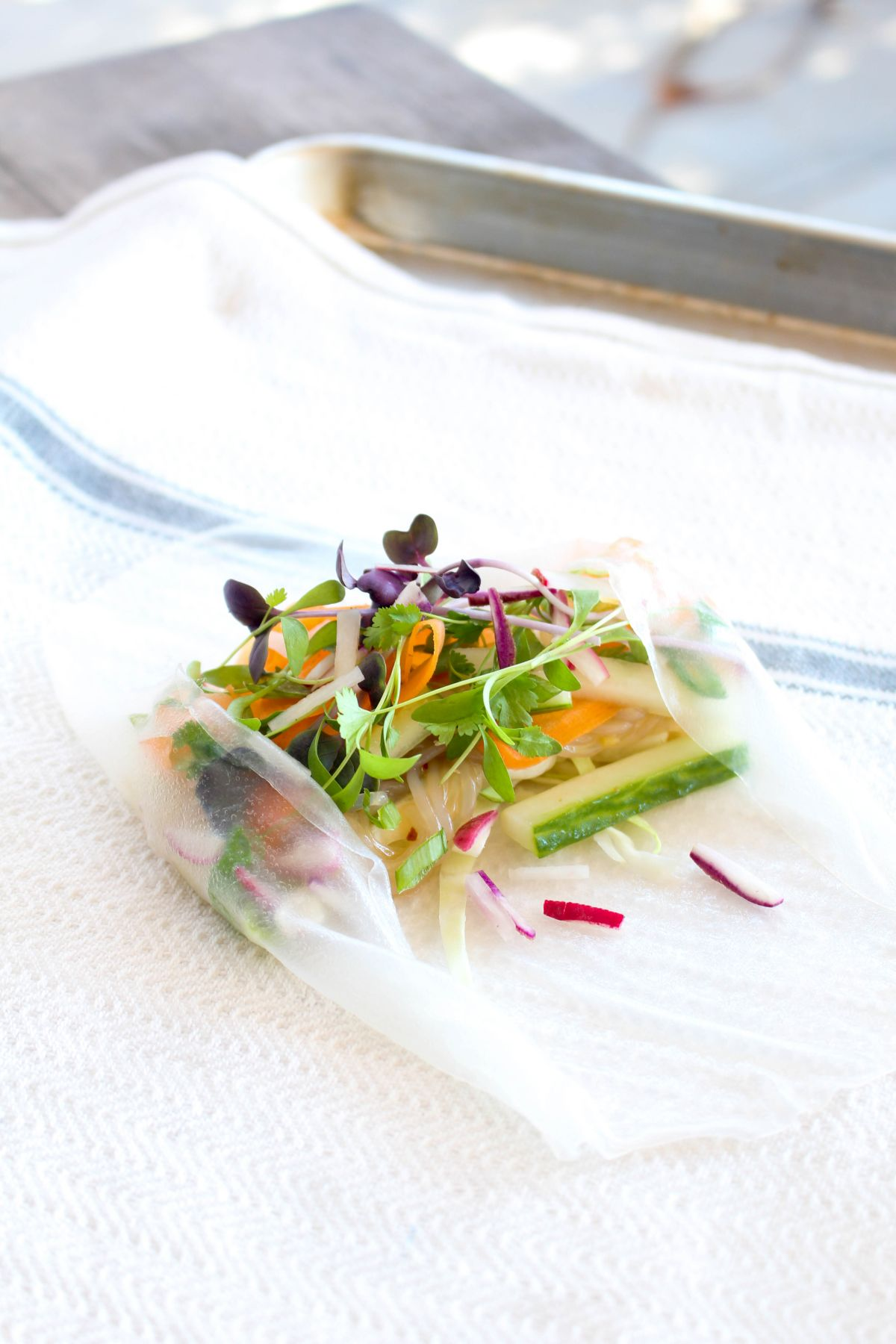 Easy vegetable summer rolls