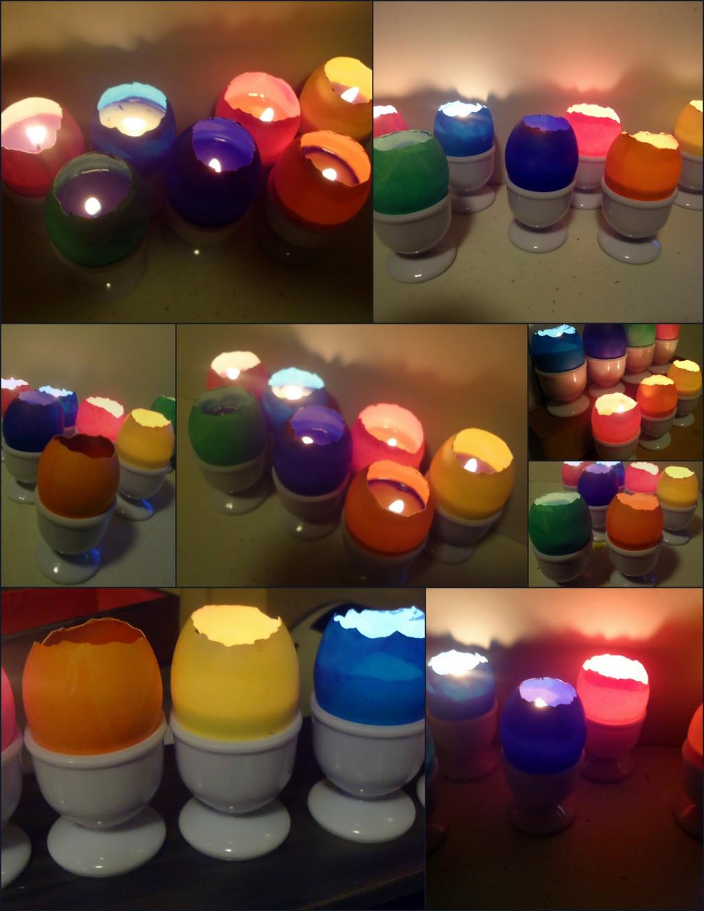 Eggshell votive candles
