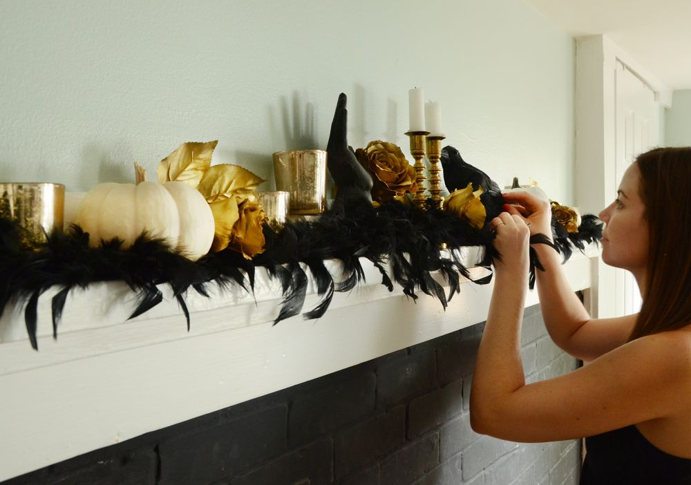 Elegant halloween mantel tutorial decorating for season