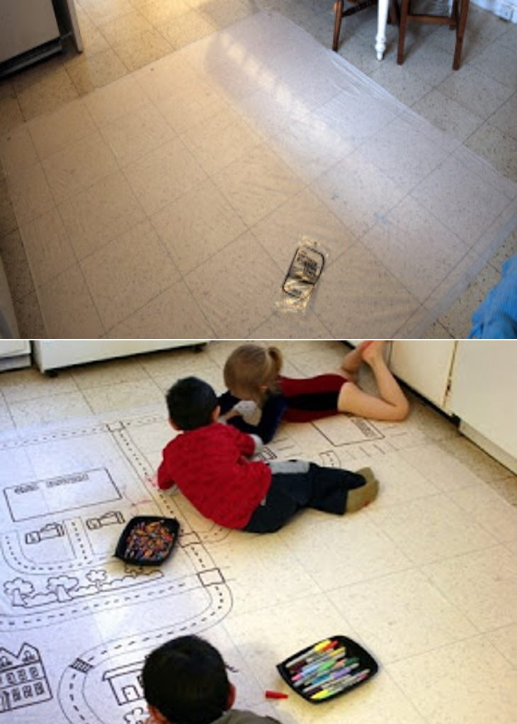 Floor drawing mat