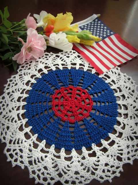 Fourth of july doily