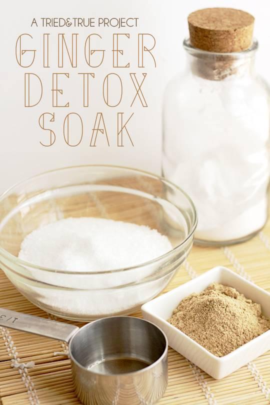 Ginger bath detox