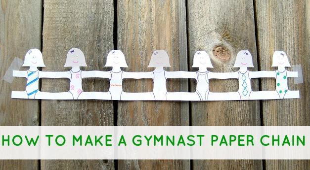 Gymnast paper chain