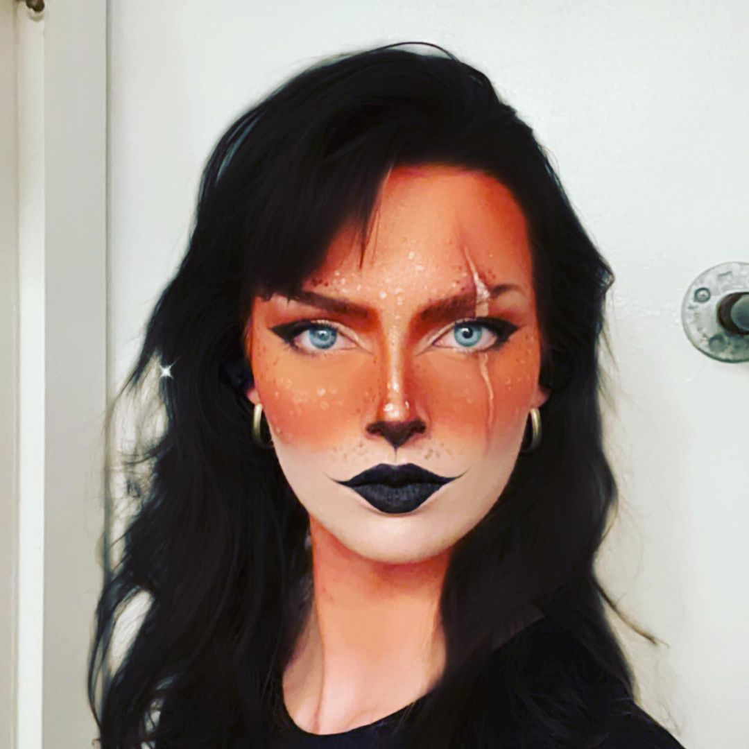 Halloween cat makeup disney's scar