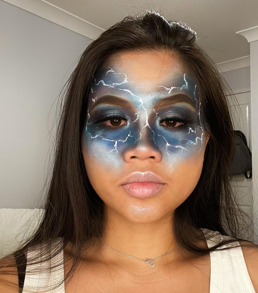 Halloween eye makeup stormy eyes