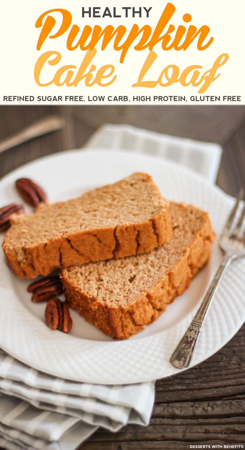 Healthy pumpkin cake loaf
