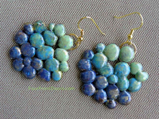 Hot glue drop earrings