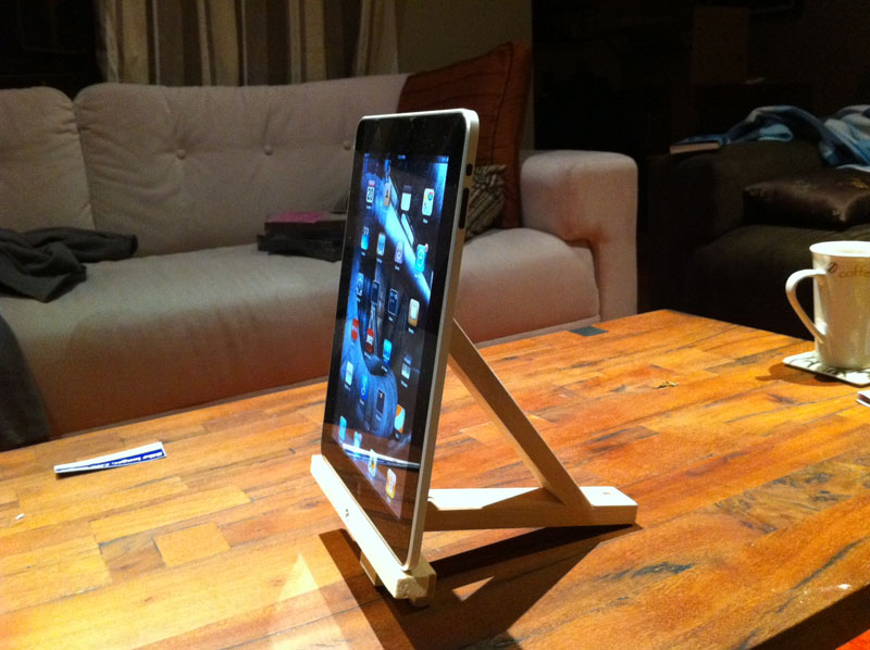 Ikea bracket tablet stand